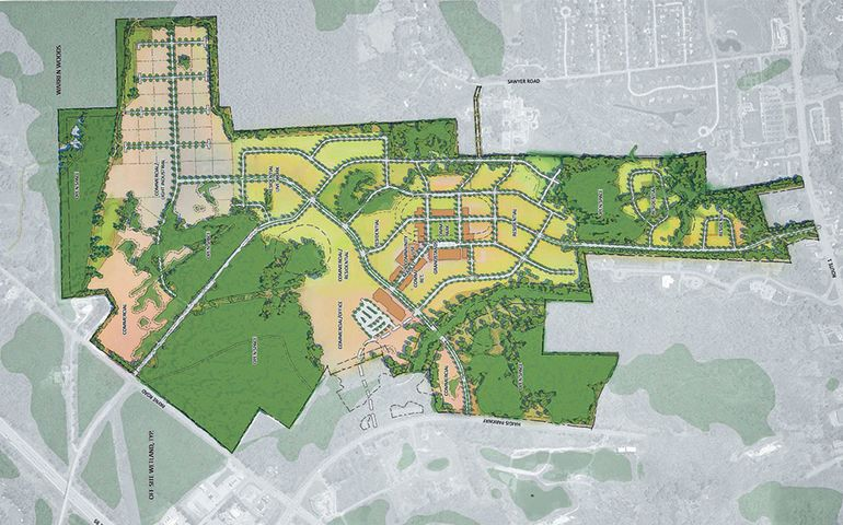 Map of The Downs planned development